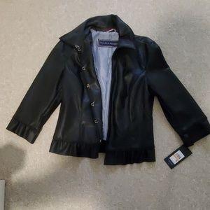 Tommy Hilfiger NEW Black Leather Jacket